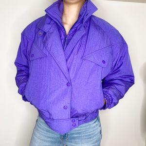 Vintage Skitique puffer ski jacket retro purple